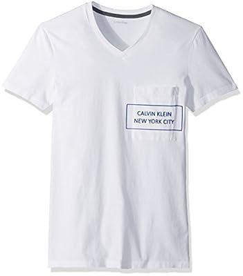 Calvin Klein Men's Short Sleeve T-Shirt With Pocket Square