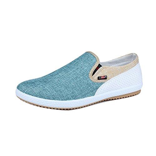 Hombres Zapatos casuales Zapatos de tela Zapatos planos Zapatos perezosos Retro Respirable Green