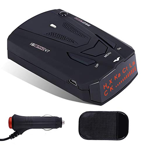 Radar Detector V7, City/Highway Mode Car Speed Laser Detector, with LED Display Voice Alert and Alarm System Radar Detector Kit with 360 Degree Detection (FCC Approved) from AHOMATE