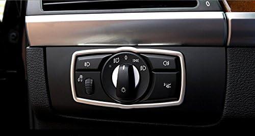 T/ête en acier inoxydable avant Cadre pour interrupteur lampe d/écoration pour accessoire de voiture BMX5