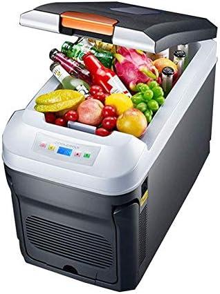車の冷蔵庫35 L水平サーモスタットデュアルコアデジタルディスプレイ車デュアルユースミニ冷蔵庫冷凍小型冷蔵庫