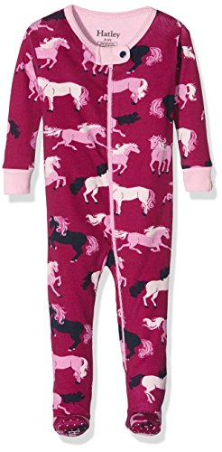 Hatley Girls' Footed Coverall, Fairy Tale Horses, 0-3 ()