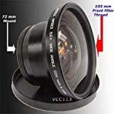 72mm 0.5X Wide Angle Lens for Sony HDR-FX1 HVR-Z1U NEW