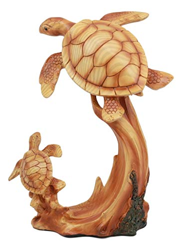 (Ebros Mother and Baby Sea Turtle Decor Statue 9