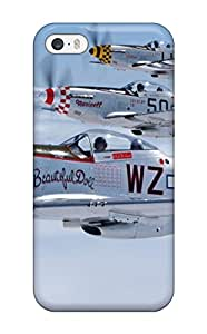 Hot Awesome Defender Tpu Hard Case Cover For Iphone 5/5s- Mustang Planes