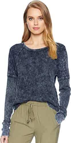 Splendid Women's Thermal Long Sleleve Henley Tee