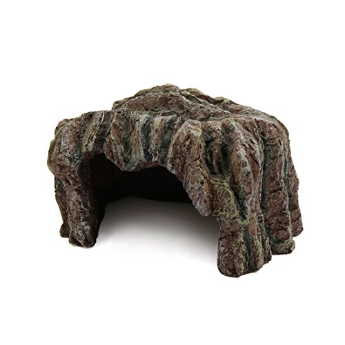 uxcell Brown Resin Reptile Turtle House Cave Hiding Spot Habitat Ornament for - Hut Turtle