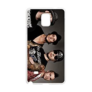 Protective TPU cover case avenged sevenfold 2 Samsung Galaxy Note 4 Cell Phone Case White