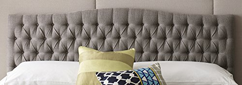 Elle Decor King Tufted Headboard in French Brown