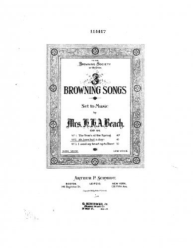 3 Browning Songs, Op.44 - 2. Ah, Love, but a Day! PDF