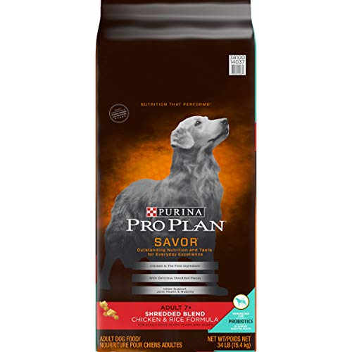 Purina Pro Plan SAVOR Shredded Blend Chicken & Rice Formula Adult 7+ Dry Dog Food - 34 lb. Bag
