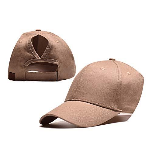 野球帽のキャップンスタイルのオープンポニーテールキャップ カスタマイズ 帽子,カーキ,CCマークなし