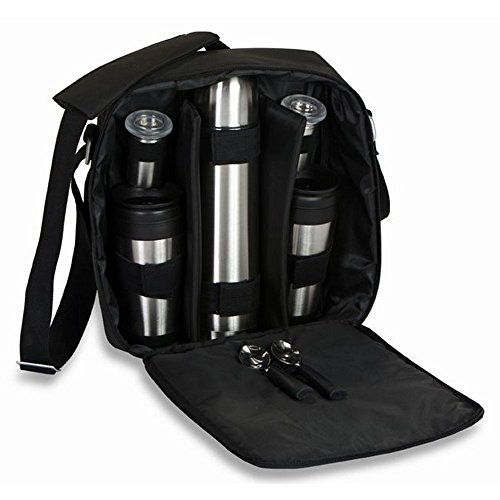(Picnic Plus Magellan Coffee Tote With Travel Mugs, Thermos Bottle Coffee Set)