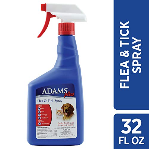 Adams Plus Flea and Tick Spray for Cats and Dogs, 32 Ounce (Best Flea And Tick Powder For Dogs)