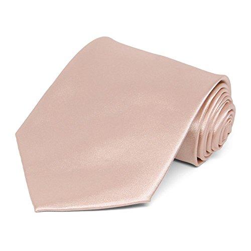 TieMart Blush Solid Color Necktie product image