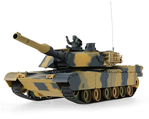 POCO DIVO Abrams M1A2 US Battle Tank RC Airsoft Panzer 1/24 Scale Model 2.4Ghz Remote Control Military Vehicle Combat Fight Infrared BB