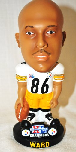 RARE Pittsburgh Steelers Hines Ward #86 NFL approved Super Bowl CHAMPIONS Super Star Commerative Big Head bobblehead