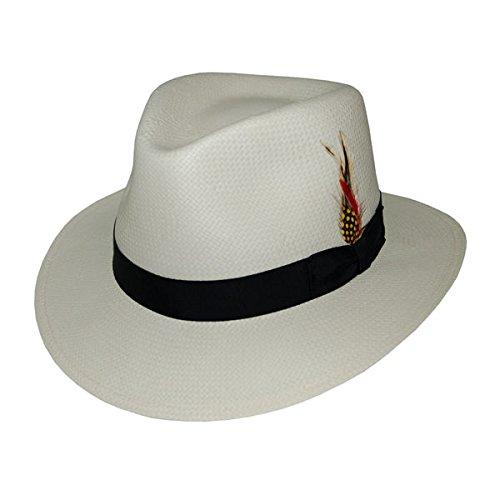 DelMonico Philip Soft Straw Hat-Natural-XL