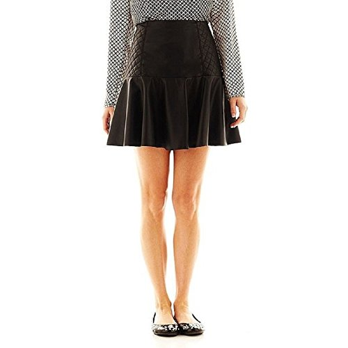 I Heart Ronson Faux-Leather Quilted Flippy Skirt Junior for sale  Delivered anywhere in USA