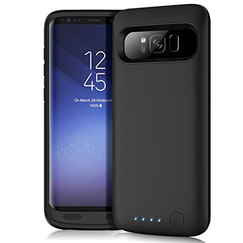 Battery Case for Galaxy S8 Plus, Feob 6500mAh Portable Rechargeable Charger Case Extended Battery Pack for Samsung Galaxy S8 Plus Protective Charging Case for Galaxy S8+(6.2 inch) -Black