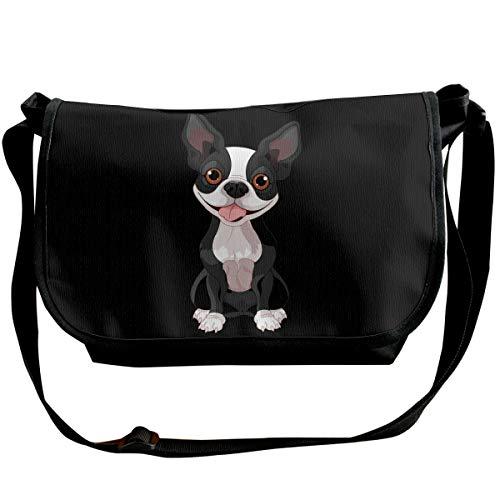 HHFASN Boston Terrier Shoulder Crossbody Bag for Men Women Messenger Bag Fashion Satchel Bag for Shopping, Student Study, Business