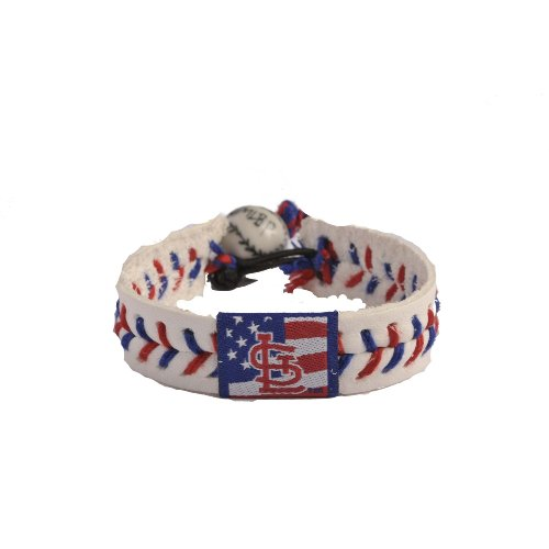 MLB St. Louis Cardinals Stars and Stripes Baseball - Bracelet Baseball Leather