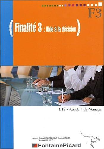 En ligne Finalité 3 Aide à la décision BTS assistant de manager pdf