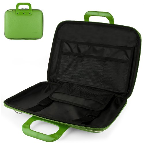 Uniquely designed SumacLife Brand Lime Green Ultra Durable Reinforced 10 Inch Cady Hard Shell Sports Bag for all models of the Asus VivoTab RT 10.1 Inch (Windows RT, TF600T-B1-GR, 32GB, 8)