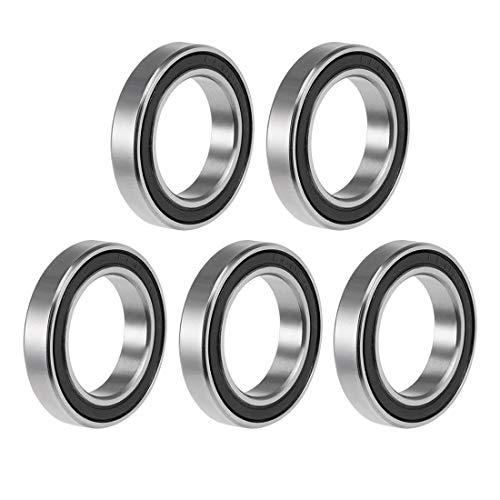 2 Pcs Premium 6801 2RS ABEC3 Rubber Sealed Deep Groove Ball Bearing 12x21x5mm