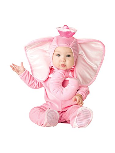InCharacter Costumes Baby's Pink Elephant Costume, Pink, (1 Year Old Baby Girl Halloween Costumes)