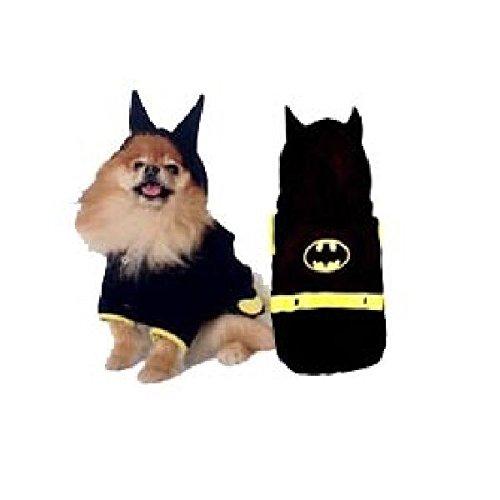 Spiderdog Costumes (Dog Costume - BATDOG COSTUMES Bat Cape Crusader Dogs Black Yellow(Size 6))