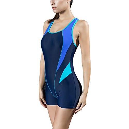 Damen Marineblau Soul Cal Schwimmen Rock Kostüm Badeanzug Schwimmer