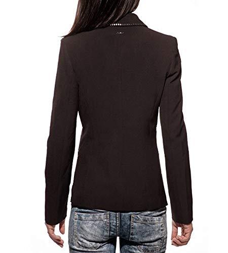 borchie Strass Jeans Donna Liu Profilo Nero Con Jo Blazer 47xp8g
