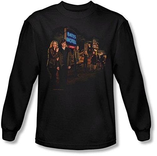 Bates Motel - Mens Cast Longsleeve T-Shirt, Medium, Black