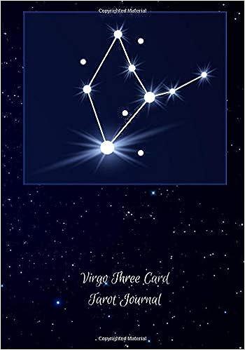 Virgo Three Card Tarot Journal: Tarot Tracker Blank Notebook
