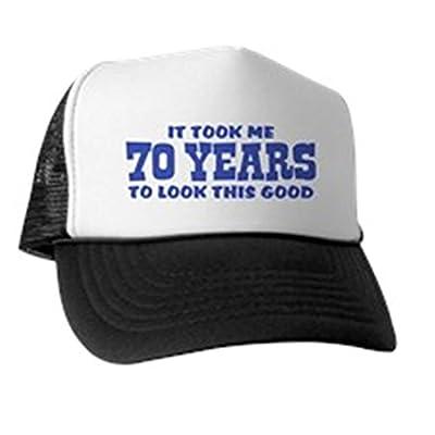 CafePress - Funny 70th Birthday Trucker Hat - Trucker Hat, Classic Baseball Hat, Unique Trucker Cap Black/White