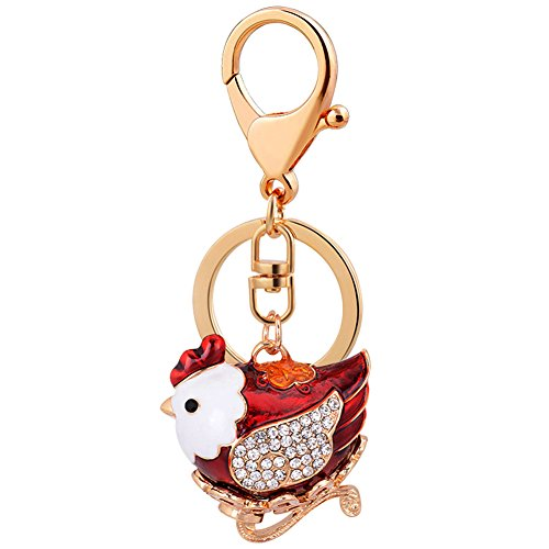 leomoste Shiny Crystal Diamond Keyring Cute Cartoon Chick Keychain Mini Bag Decoration Creative Gift for Girls and Women by leomoste (Image #7)