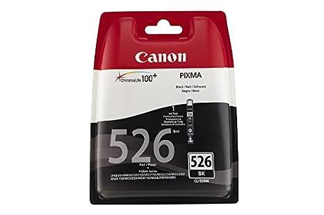 Canon CLI-526 Cartucho de tinta original Negro para Impresora de Inyeccion de tinta Pixma MX715-MX885-MX895-MG5150-MG5250-MG5350-MG6150-MG6250-MG8150-...