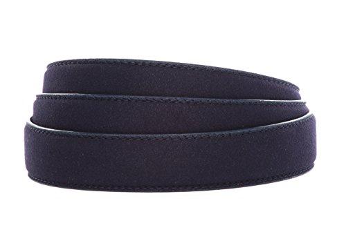 (Anson Belt & Buckle Micro-Suede Ratchet Belt Strap (Strap Only) (Navy))