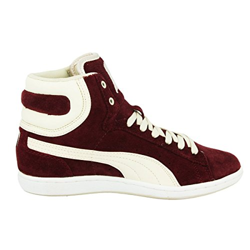 ... Puma WNS CROSS SHOT Chaussures Mode Sneakers Femme Cuir Suede Rouge PUMA  ...