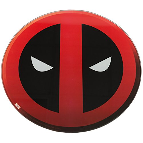 Marvel X-Men Deadpool 12 Inch Glass Cutting Board - Non Slip Feet