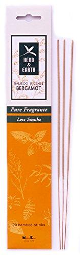 Earth Incense Sticks - Herb & Earth Bamboo Incense Bergamot 20 Sticks