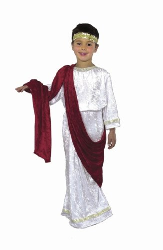 CHILD X-Large 12-14 - Greek or Roman Costume - Works for Toga and Mark Anthony Costume too! (Roman Girl Costume)