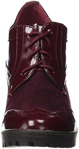 3a9d1bed XTI Botin Sra C. Combinado Burdeos, Zapatos de Cordones Oxford para Mujer  Rojo ...