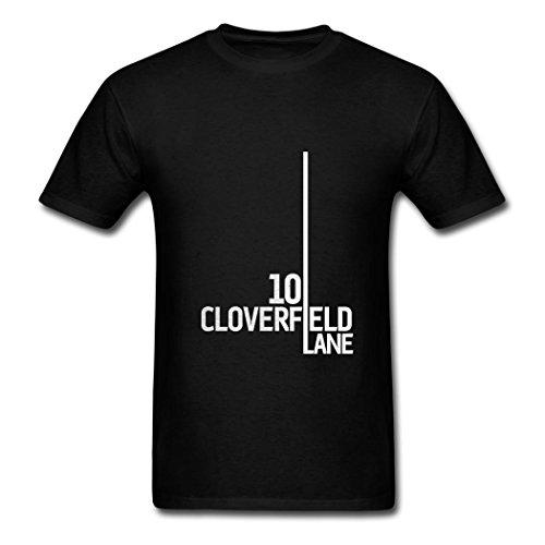 TOGEB 10 Cloverfield Lane logo Men's Short T-shirt Young T-Shirts Black XXXL