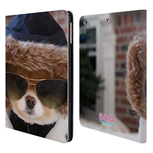 Official Boo-The World's Cutest Dog Hoodie Sunglasses Leather Book Wallet Case Cover for iPad Air (2013) ()