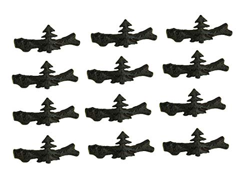 DeLeon Collections Set of 12 Cast Iron Pine Tree Drawer ()
