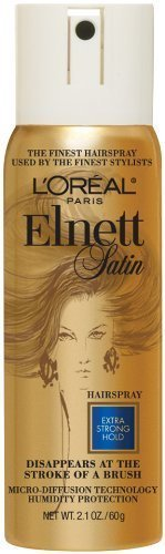 L'Oreal Paris Elnett Satin Hairspray, Extra Strong Hold, Travel Size, 2.2 Ounce (Pack of 3)