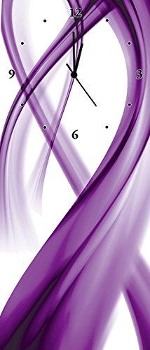 Artland Wand-Funk-Analog-Uhr Digital-Druck Leinwand auf Holz-Rahmen gespannt mit Motiv Benedict Bocos Abstrakte Komposition (violett) Abstrakte Motive Gegenstandslos Digitale Kunst Lila A6GA