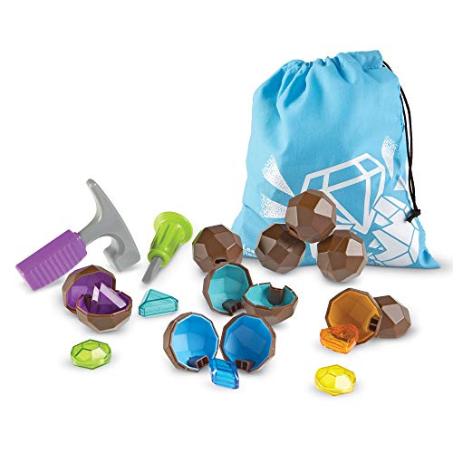 Learning Resources Rock 'n Gem Surprise, Sorting, Matching, Counting Skills and Early STEM, 19 Pieces, Ages 3+